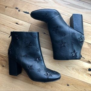 Kenneth Cole Carlyn Sequined Star Booties